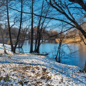 Андреевские пруды в снегу
