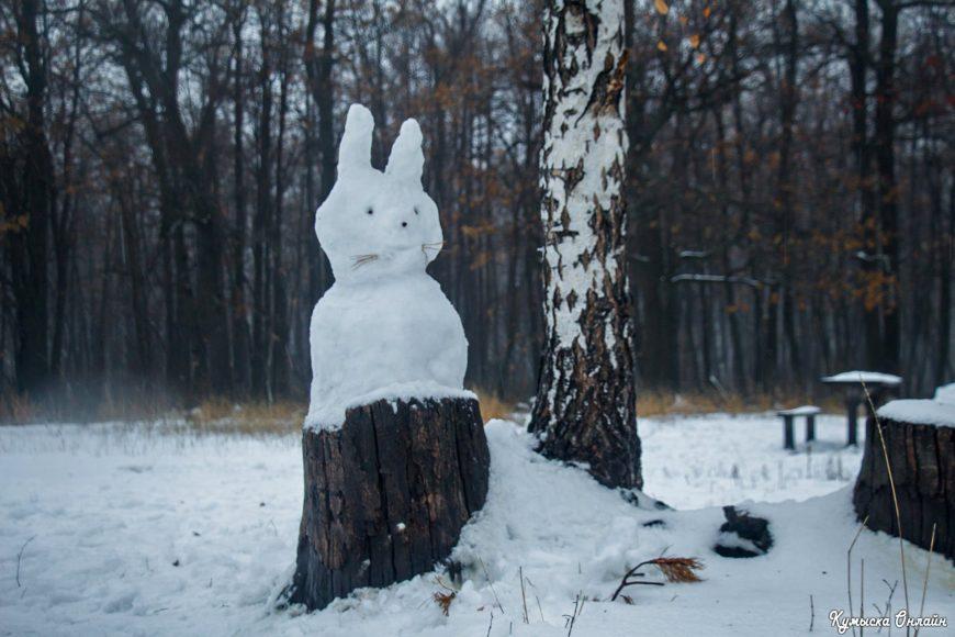 Снежный заяц на Кумысной поляне