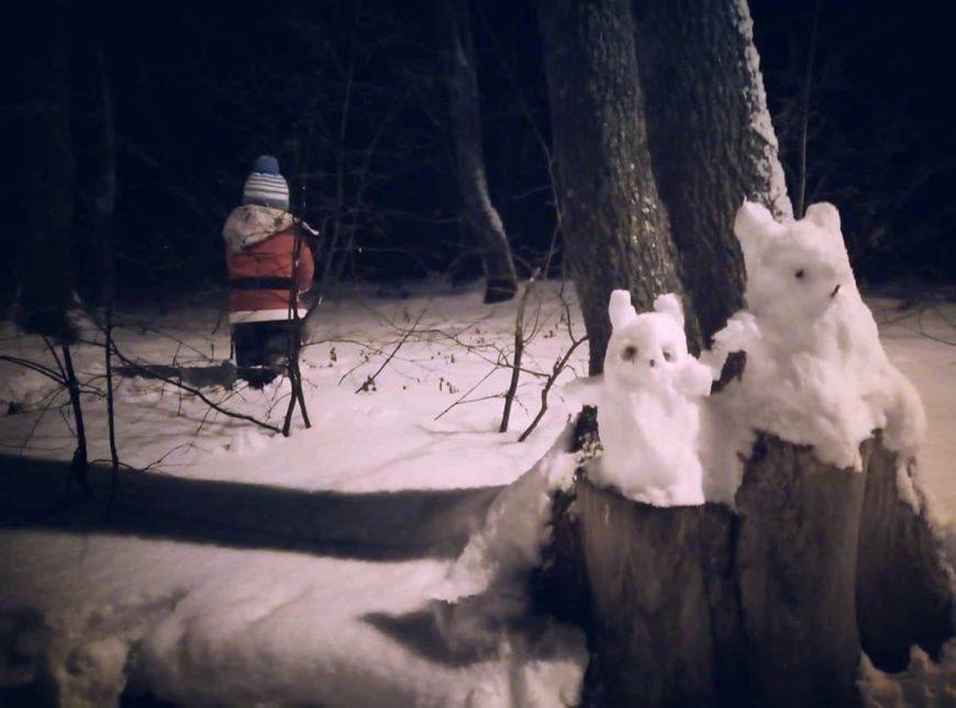 Зимней ночью на Кумысной поляне...