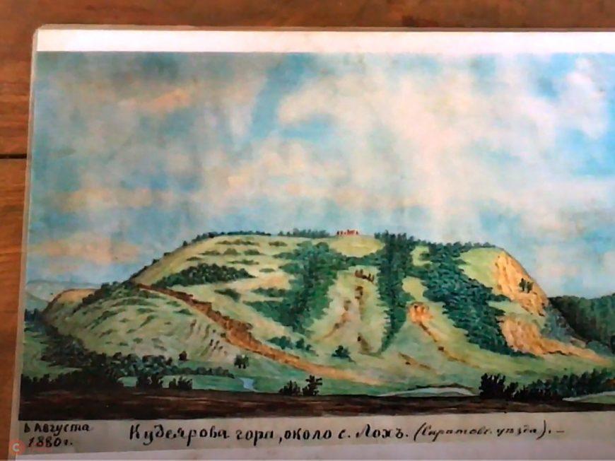 Кудеярока гора - рисунок Минха 1880г.