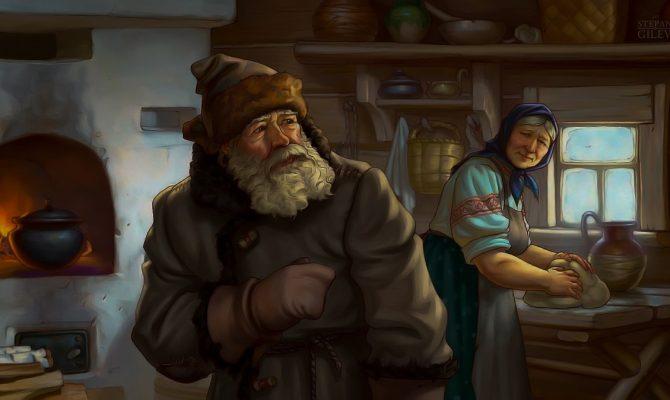 Крестьяне и знахарка