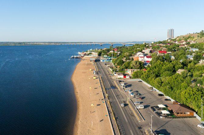 Пляж Затон в Саратове
